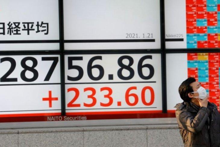 Saham Asia mendekati rekor tertinggi, minyak menuju 60 dolar