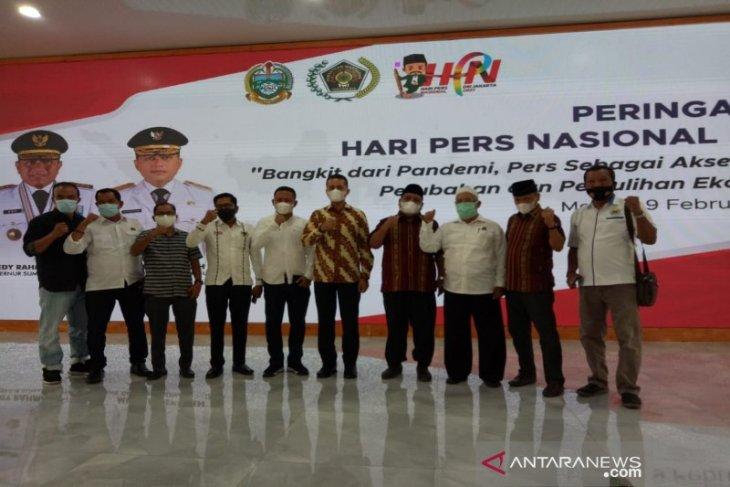 PWI Tabagsel ikuti acara HPN 2021 secara virtual bersama Gubsu di Medan