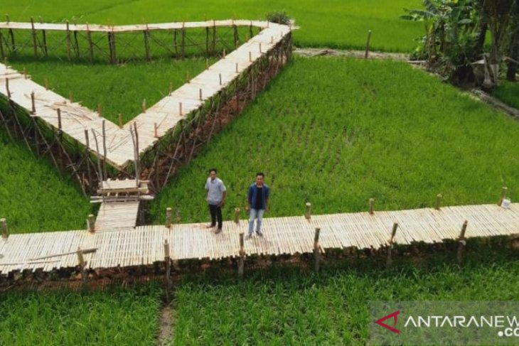 Balangan's village builds bamboo bridge for attraction