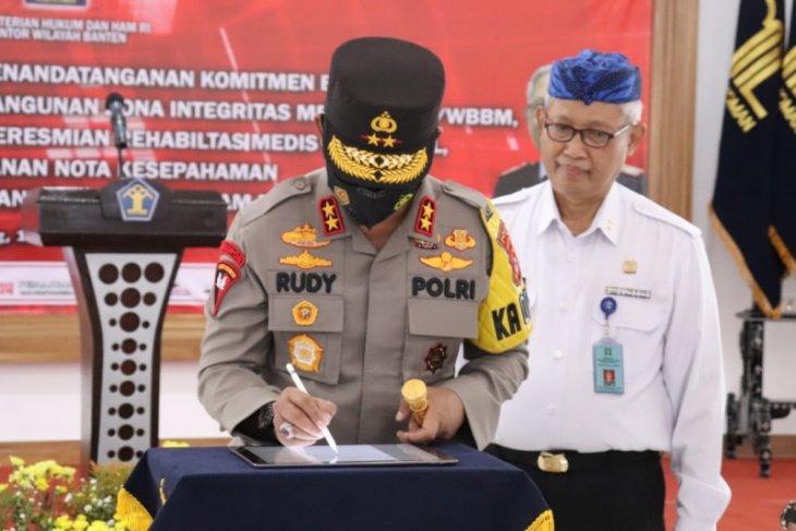 Polda Banten dan Kanwilkumham Banten tandatangani MoU penegakan hukum