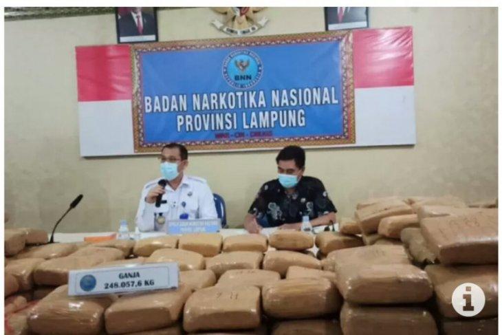 Pengiriman 248 kg ganja dari Aceh dikendalikan narapidana