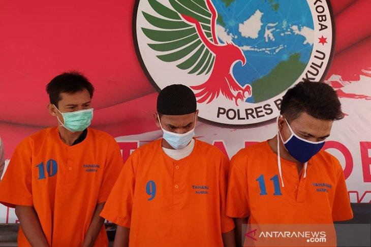 Polres Bengkulu tangkap 3 pengedar sabu, satu orang berstatus napi asimilasi