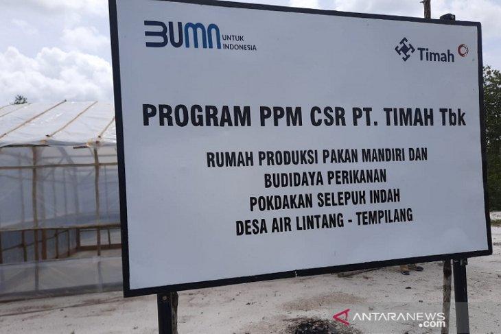 PT Timah salurkan 10 ribu udang galah bantu warga Air Lintang