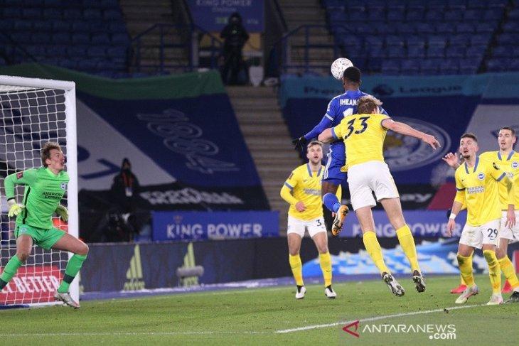 Piala FA, gol dramatis Iheanacho bawa Leicester lolos ke perempat final