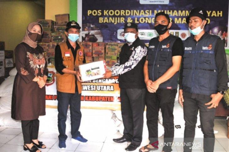Pemkab Gorontalo serahkan bantuan bagi korban bencana di Manado