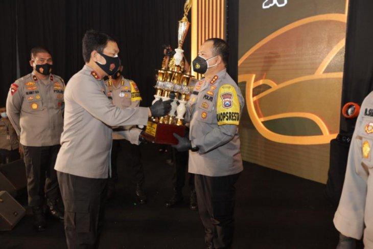 Kapolda Jatim beri 109 penghargaan kepada polres dan anggota terbaik