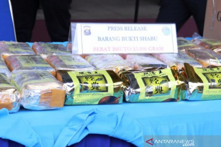South Sumatra police apprehend 49 suspected drug traffickers, users