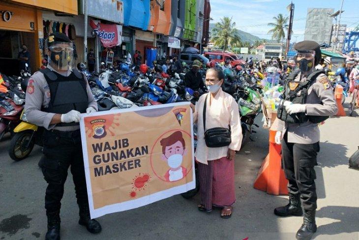 Polda Maluku sosialisasi protokol kesehatan di tempat umum