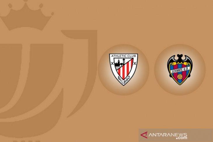 Bilbao vs Levante imbang 1-1 leg pertama semifinal Copa del Rey
