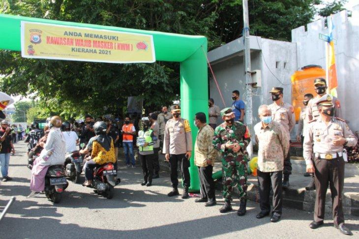 Polda Maluku Utara resmi berlakukan kawasan wajib masker