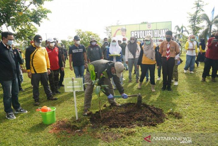 Hari terakhir masa tugas Sahbirin-Rudy Resnawan ditandai dengan menanam ulin