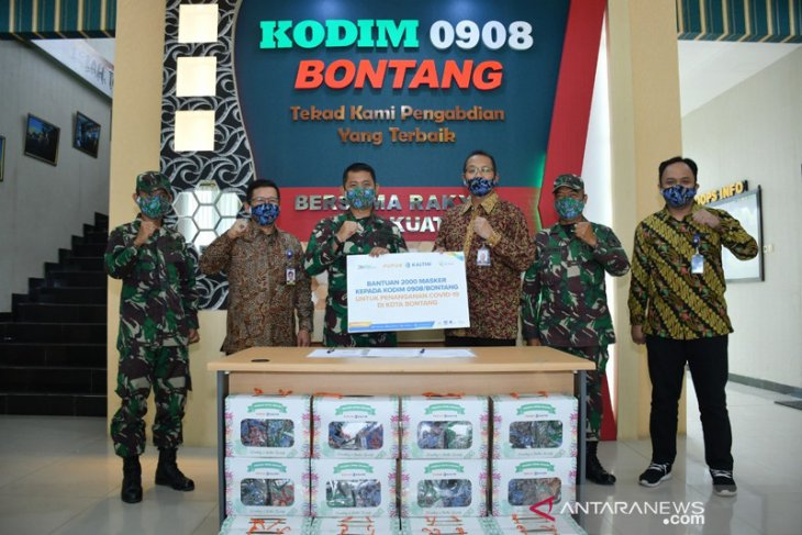 Pupuk Kaltim Salurkan 2.000 Masker Untuk Optimalisasi Prokes di Bontang