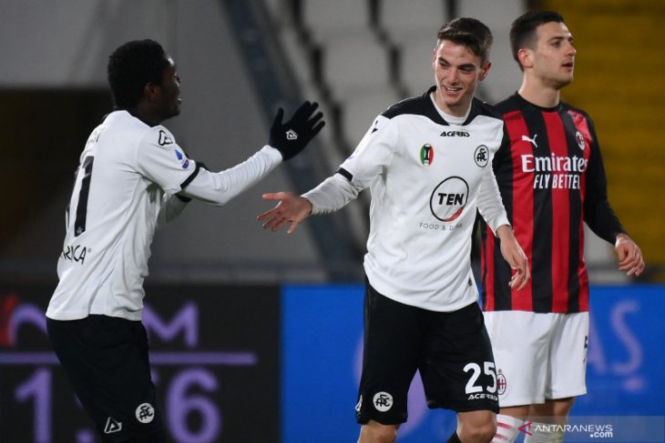 AC Milan kalah oleh Spezia 0-2