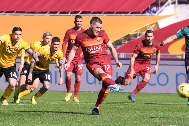 Liga Italia, dua gol Veretout warnai kemenangan 3-0 Roma atas Udinese