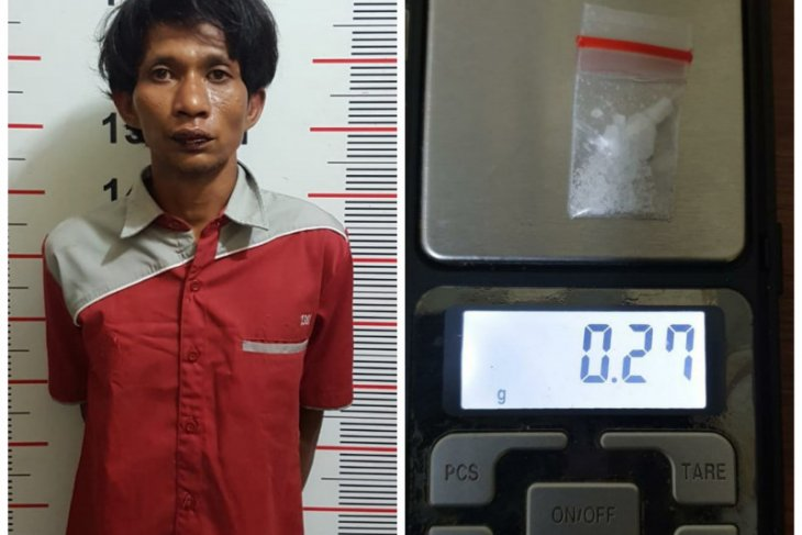 Manaf diuber kasus curat saat ditangkap Polsek Pangkalan Susu miliki sabu-sabu