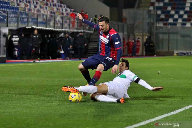 Sassuolo mengakhiri puasa kemenangan setelah tundukkan Crotone 2-1