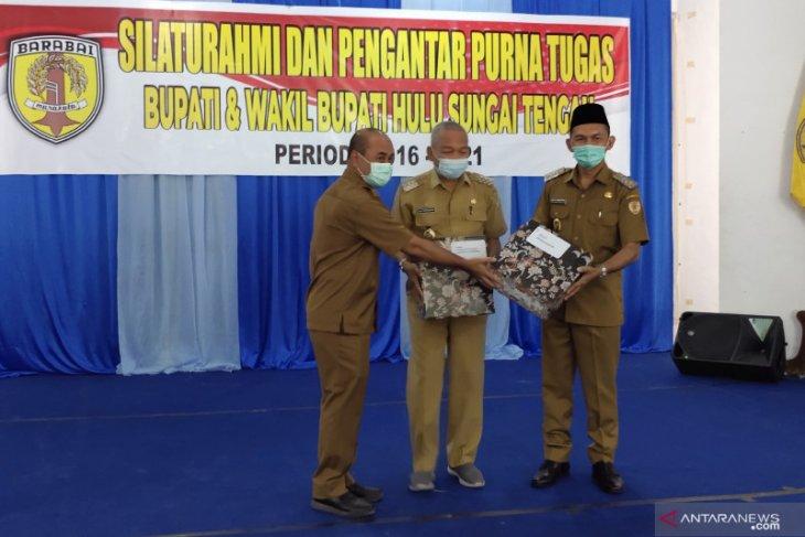 Bupati dan Wakil Bupati HST pamit dengan jajaran pejabat, masa tugas berakhir pas kedatangan Jokowi