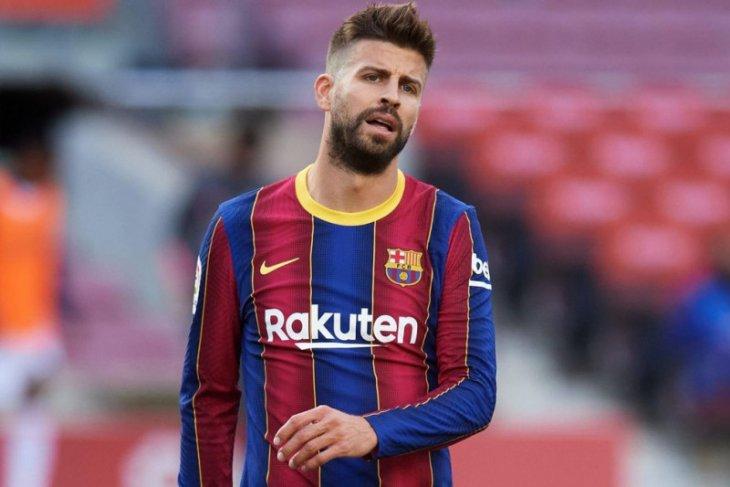 Karena cedera, bek Barcelona Gerard Pique terancam absen tiga pekan