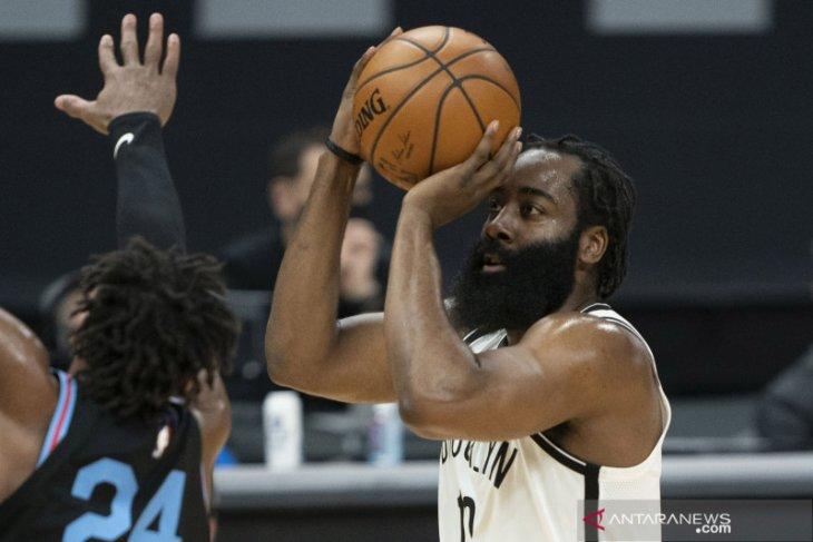 James Harden bakal absen bela Nets di gim ketiga playoff NBA karena pahanya