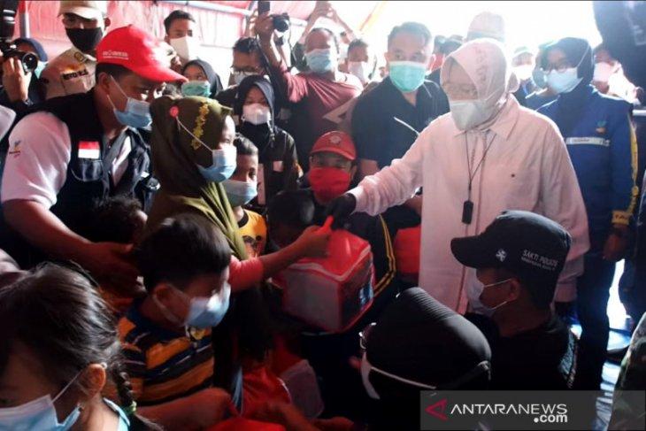 Mensos senang lihat anak-anak korban longsor Nganjuk ceria