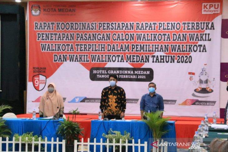 KPU Medan gelar rapat pleno penetapan wali kota Kamis