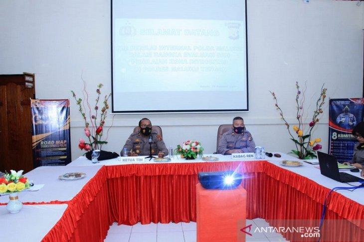 TPI ZI Polda Maluku asistensi Polres Malteng  raih zona integritas WBK - WBBM