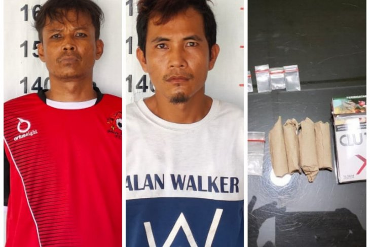 Polsek Pangkalan Brandan tangkap dua tersangka pemilik narkotika