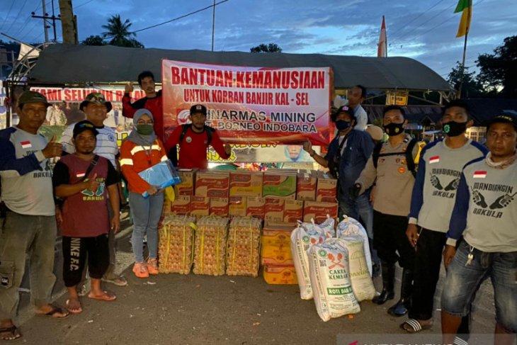 PT BIB salurkan bantuan sembako kepada korban banjir di Kalsel