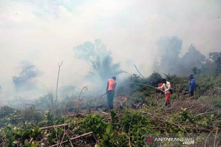 Kebakaran lahan gambut di Nagan Raya masih sulit dipadamkan