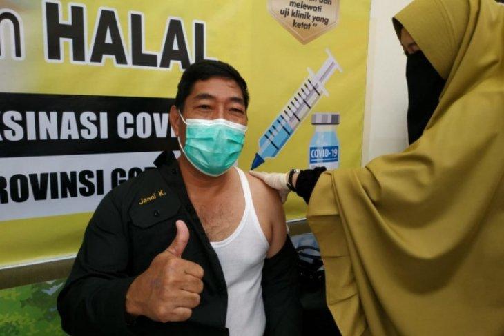 Tenaga kesehatan Gorontalo yang sudah divaksin COVID-19 sekitar 77,7 persen