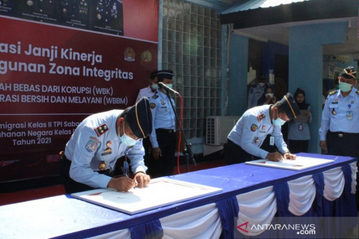 Imigrasi dan rutan di Sabang komitmen bangun zona integritas