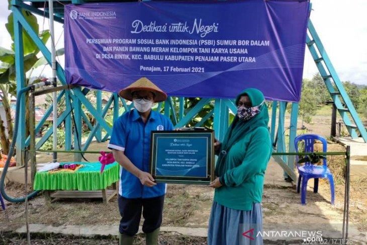 BI Balikpapan beri bantuan sumur bor di Desa Rintik Kabupaten Penajam
