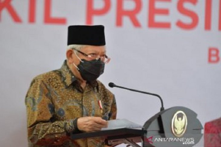 Wapres Ma'ruf Amin  tinjau vaksinasi atlet di Istora Senayan