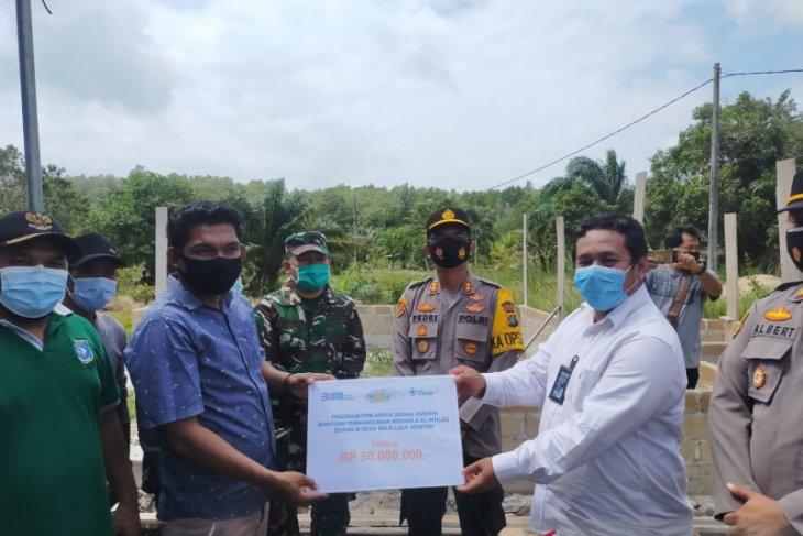 PT Timah salurkan bantuan pembangunan rumah ibadah di Desa Belolaut