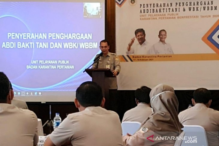 Karantina Pertanian Gorontalo raih penghargaan Abdi Bakti Tani