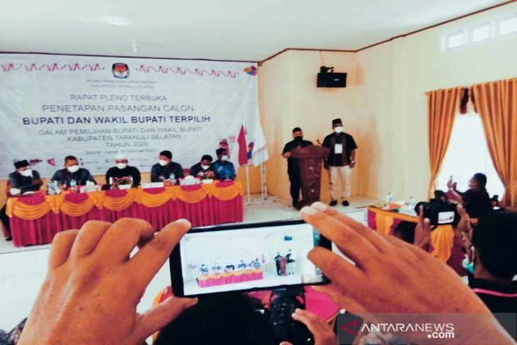 KPU tetapkan Dolly-Rasyid sebagai Bupati dan Wakil Bupati terpilih Tapsel 2021-2024