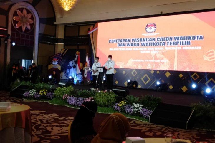 Eri-Armuji resmi ditetapkan sebagai paslon terpilih Pilkada Surabaya 2020