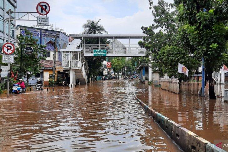 Ada empat titik genangan dan banjir di Jakarta Pusat
