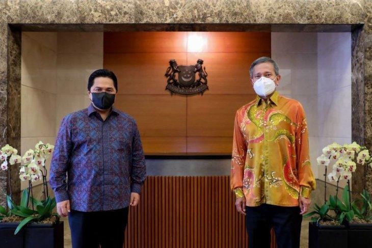 Menteri BUMN Erick Thohir ajak Singapura pererat kerjasama ekonomi