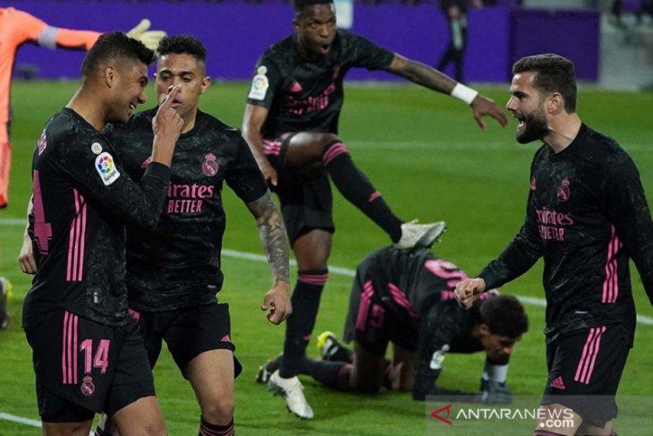 Real memangkas jarak dengan Atletico usai tundukkan Valladolid 1-0