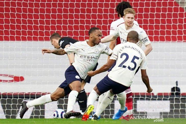Manchester City ukir kemenangan beruntun ke-18 di liga usai tundukkan Arsenal