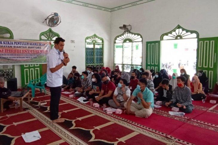 Pokjaluh Siantar Martoba sosialisasikan bahaya napza kepada remaja Islam