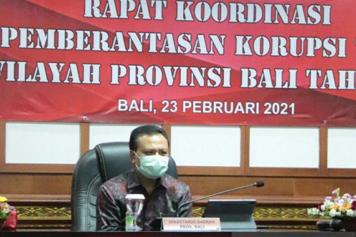 Sekda Bali minta bupati tingkatkan upaya pencegahan korupsi