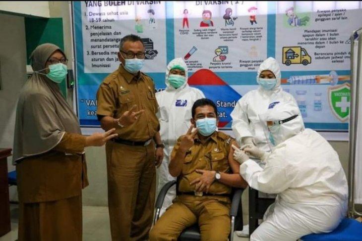 Unsur FKPD Tebing Tinggi vaksinasi tahap 2