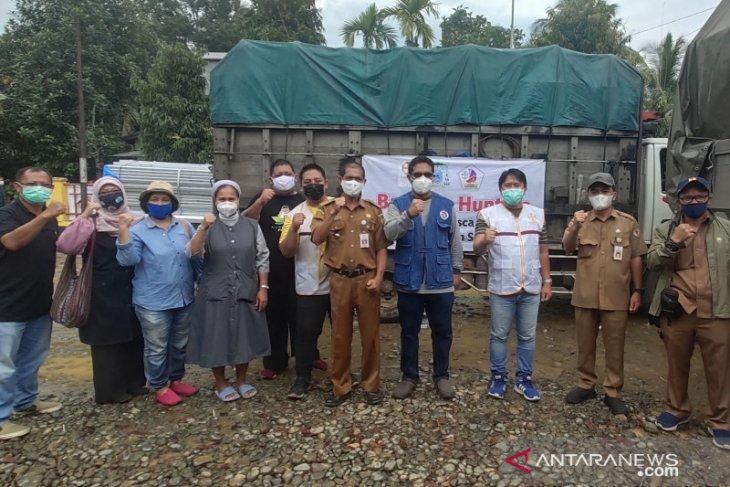 Posko Kemanusian Lintas Iman bantu 12 unit pembangunan Huntara di HST