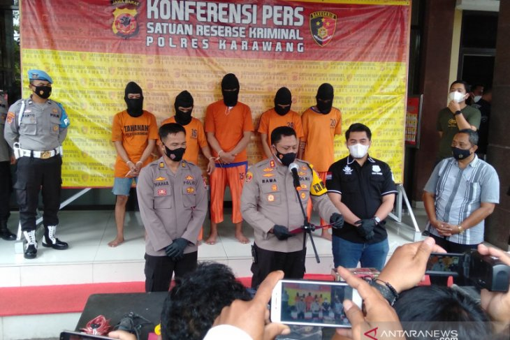 Lima tersangka spesialis pembobol minimarket diringkus polisi di Karawang