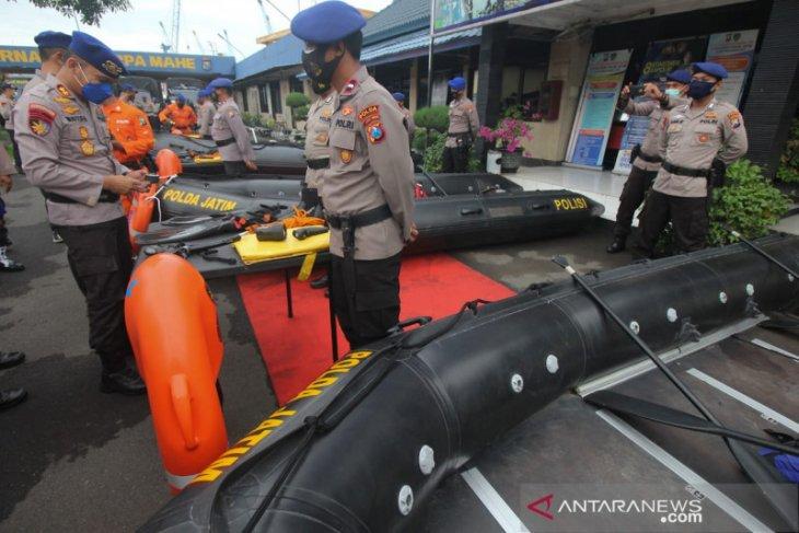 Polairud Polda Jatim siagakan puluhan personel tangani bencana alam