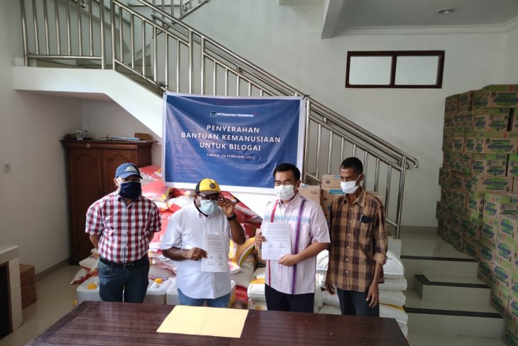 Freeport Indonesia provides aid for refugees in Papua's Intan Jaya