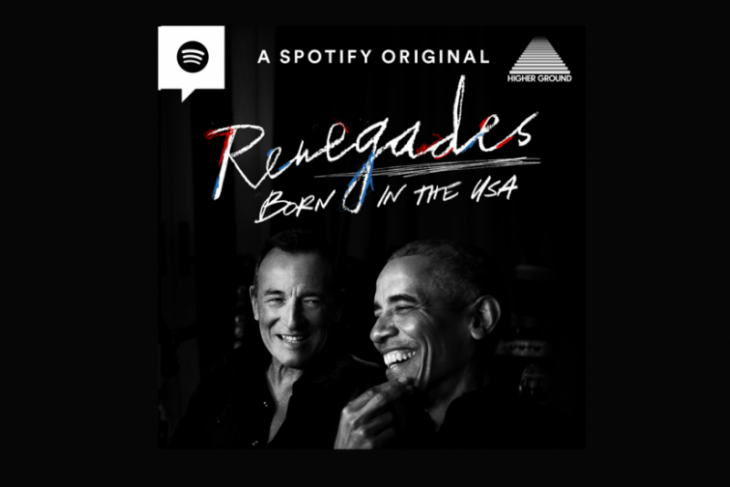 Obama dan Bruce Springsteen dalam podcast