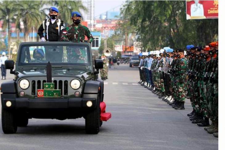 Pangdam XII/Tpr buka secara resmi Operasi Gaktib dan Yustisi Polisi Militer 2021